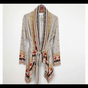 Anthropologie Sparrow Tribal Blanket Tie Cardigan